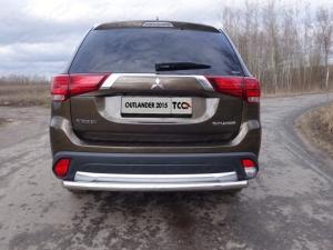Mitsubishi Outlander 2015 Защита задняя (длинная) 60,3 мм